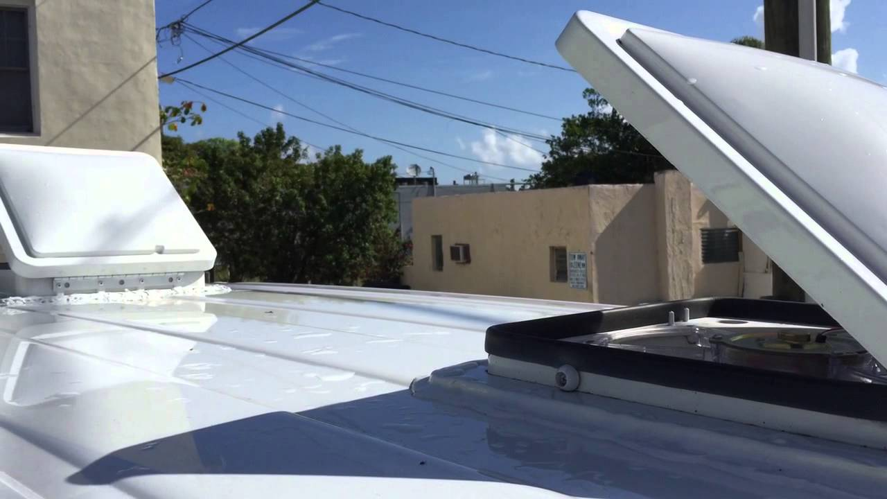 Dual Fan Tastic Roof Vent Van RV Tour DOUBLE BUBBLE