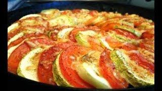 видео Кабачки, запеченные с помидорами и сыром