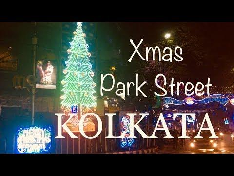 Park Street Kolkata During Christmas.Christmas Time Park Street Kolkata India