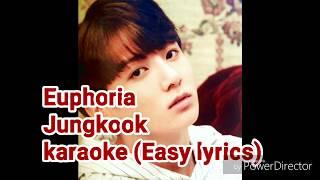 Euphoria karaoke/instrumental by Jungkook (BTS) |(Easy lyrics) (Con letra fácil)