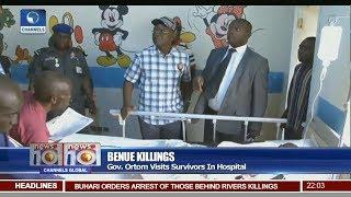 Gov Ortom Visits Survivors Of Benue Attempted Killings In Hospital Pt 1 | News@10 |