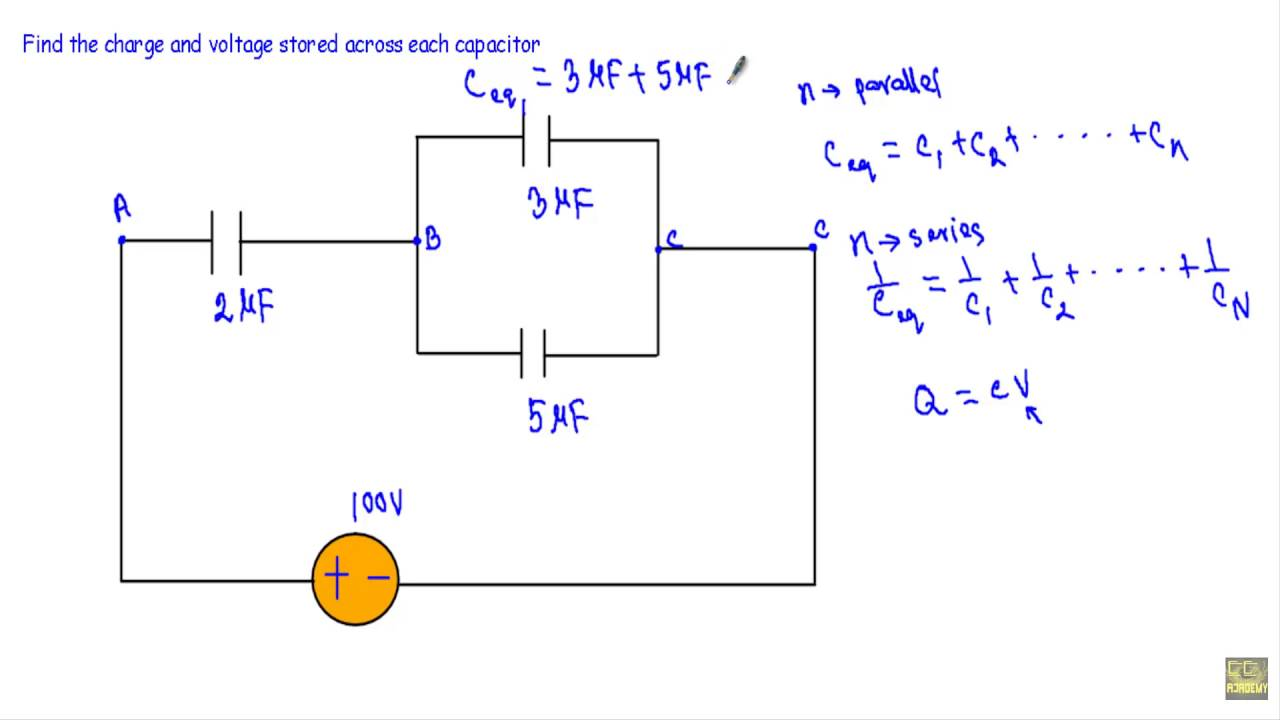 Circuit Example Charge Voltage In Capacitors Youtube Figure 1 Representative For A Capacitorcharging