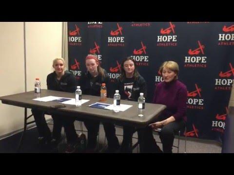 Carnegie Mellon Women's Basketball Post Game Interview v Hope