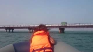 29.07.2016. Керченский рабочий мост, форт Тотлебен с воды.(, 2016-08-05T17:32:09.000Z)