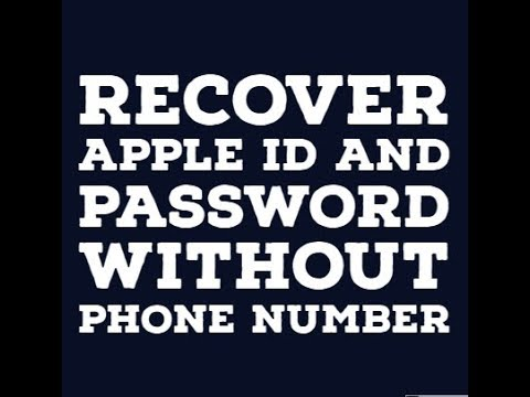 How to change your apple id password without phone number