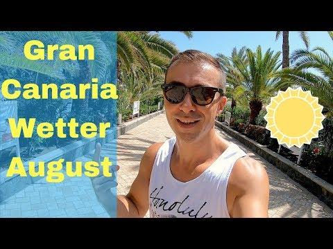 Temperaturen Gran Canaria August, Wetter Und Klima Maspalomas, Playa Del Ingles