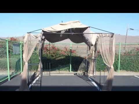 How To Install A Home Depot Arrow Gazebo Replacement Canopy