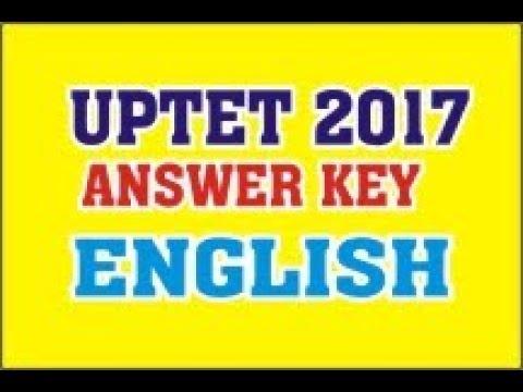 UP. TET  English Answer key 15 Oct. 2017