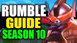 SEASON 10 RUMBLE GAMEPLAY GUIDE - (Best Rumble Build, Runes, Playstyle) - League of Legends