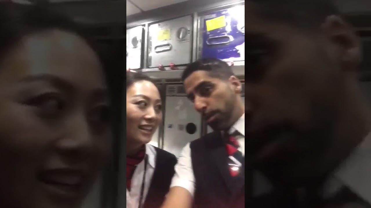 British Airways Cabin Crew Saying Namaste to MAMTA SACHDEVA