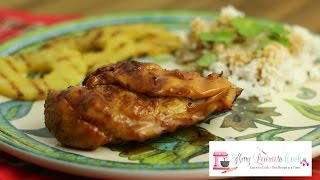 Grilled Chicken Breast with Pineapple & Rum Glaze  Amy Learns to Cook