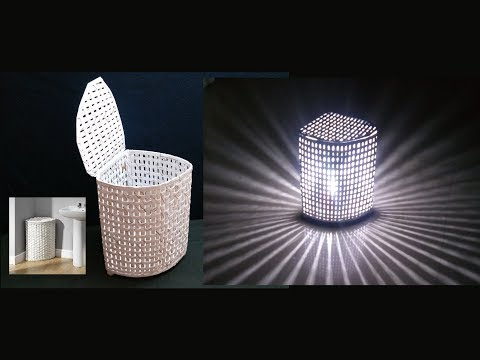 How To Make Paper Basket / Lamp Shade (2 in 1)