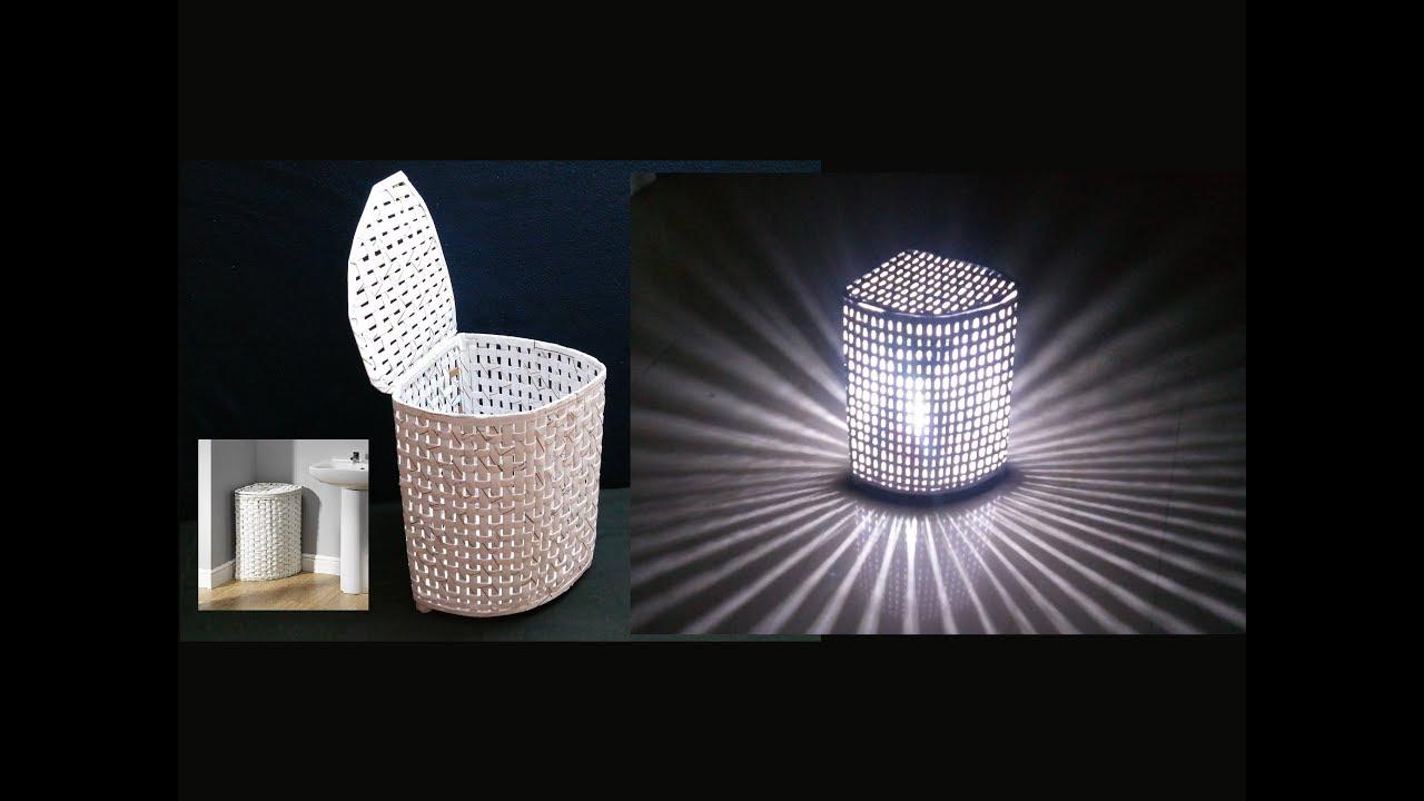 How To Make Paper Basket Lamp Shade 2 In 1 Diy
