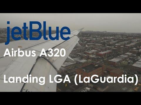 Jetblue A320 Landing LaGuardia (LGA) New York