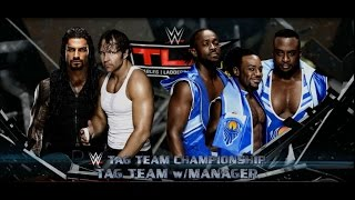 wwe 2k16 xbox 360 dean ambrose roman reigns vs the new day tag team title match