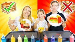 PANCAKE ART CHALLENGE 4!!! Learn How To Make Hamburger french fries Donut Food DIY Pancake