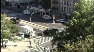 9/11 New York Housing Authority Dump Truck Caravan After WTC 7 Demolition