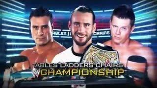 WWE T.L.C 2011 - CM Punk Vs Alberto Del Rio Vs The Miz Full Match (HQ)