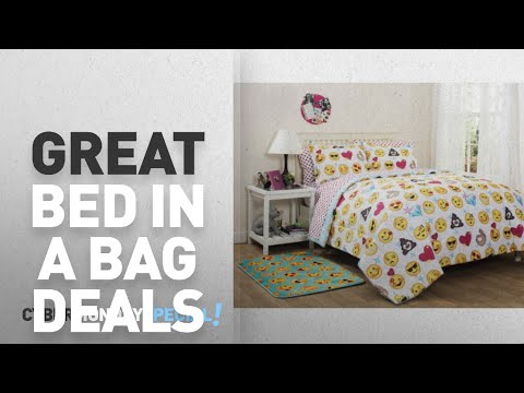 Walmart Top Cyber Monday Bedding Bed-in-a-Bag Deals: EmojiPals Emoji Kids Bed in a Bag Bedding Set