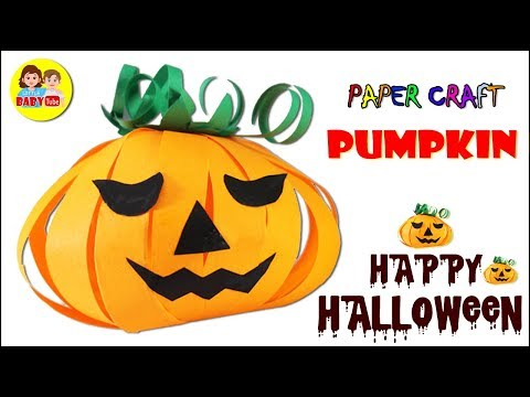 How To Make Halloween Pumpkin Using Paper | DIY Paper Pumpkin | Paper Crafts