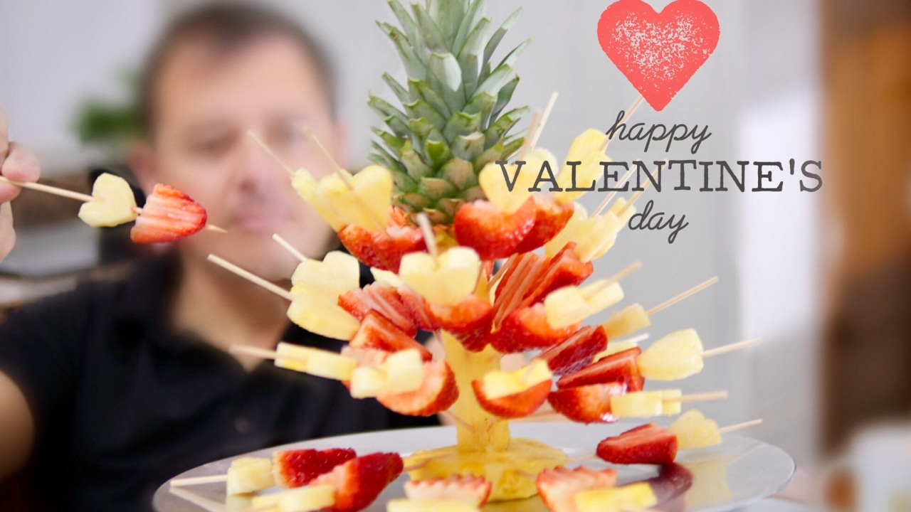 For Valentine S Day ⎜strawberries With Pineapple Hearts⎜by