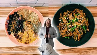 what i eat during the offseason + suit shop with me | vegan pro athlete