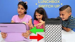 LUNCHBOX SWITCH UP CHALLENGE!!! HZHtube Kids Fun