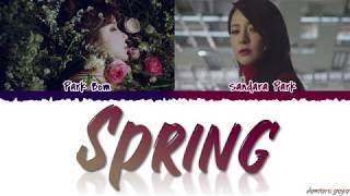 Gambar cover Park Bom (박봄) - 'SPRING' (봄) ft. Sandara Park Lyrics [Color Coded_Han_Rom_Eng]