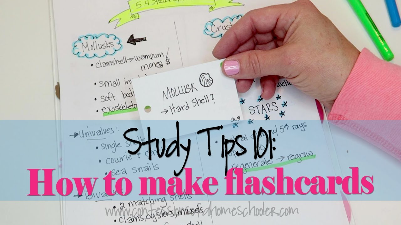 Study tips 2 how to make effective flashcards youtube for How to make creative cards