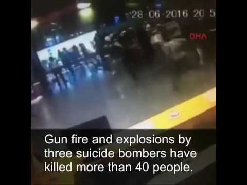 New footage of Bomb explosion in Ataturk Airport at Istanbul.