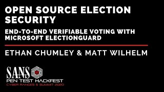 Open Source Election Security – End-to-End Verifiable Voting with Microsoft ElectionGuard - HackFest