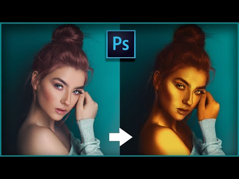 Professional Golden Shine Effect In Photoshop
