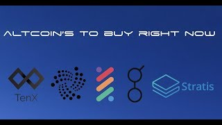 Altcoin's to Watch Right Now
