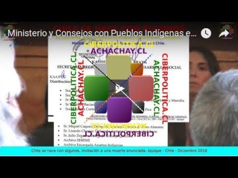 Ministerio y Consejos con Pueblos Indígenas en Chile. 28-12-18. En IQUIQUE 01