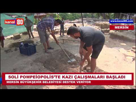 SOLİ POMPEİOPOLİS'TE KAZI...