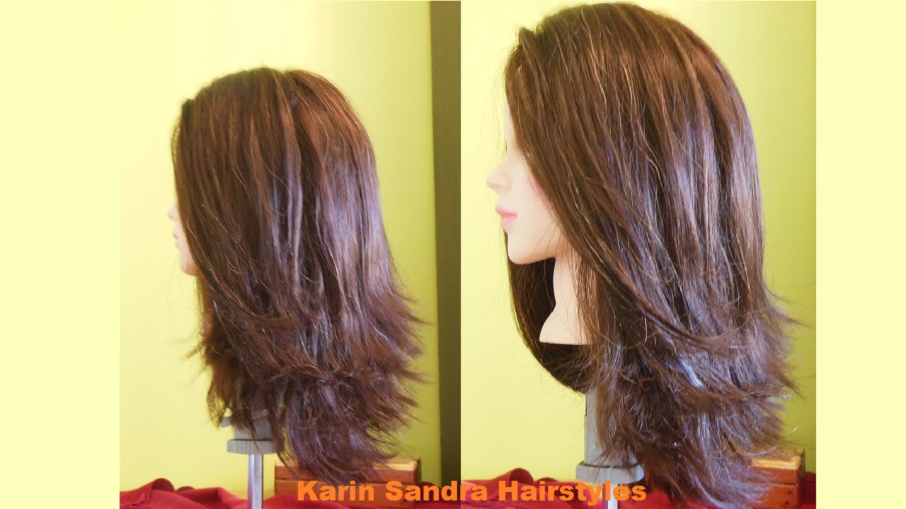 Image is part of v shaped hairstyle pictureslong layered haircuts - Long Bob Haircut Tutorial Step By Step Long Layered Haircut Long Haircut With Graduation Youtube