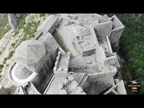 Castillo de Loarre a vista de Dron.