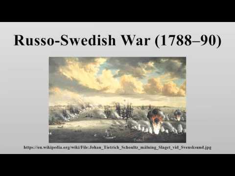 Russo-Swedish War (1788–90)