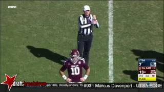 Marcus Davenport (UTSA EDGE) vs Texas A&M 2016
