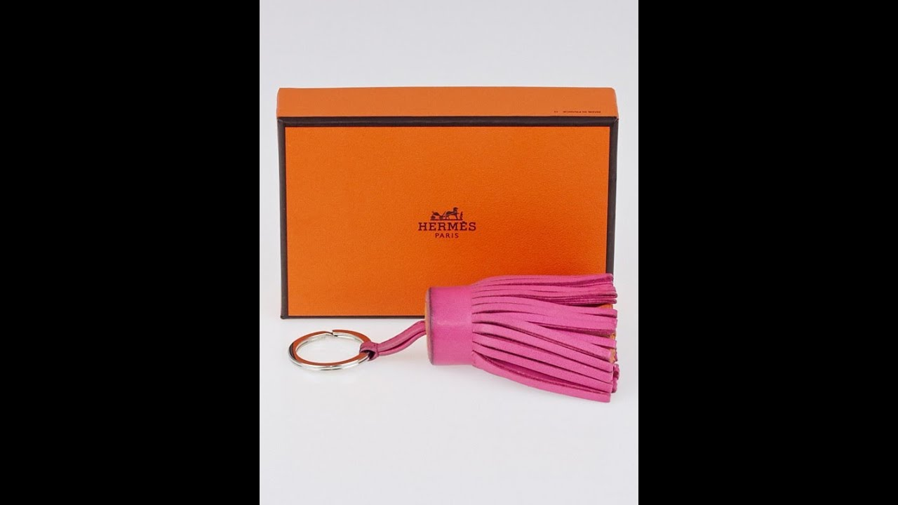 hermes knockoffs - Hermes Swift Leather Carmen Key Ring in Fuchsia/Orange Reveal ...