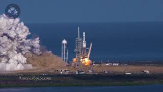 4K SLOW-MOTION Falcon Heavy Launch from VAB Roof