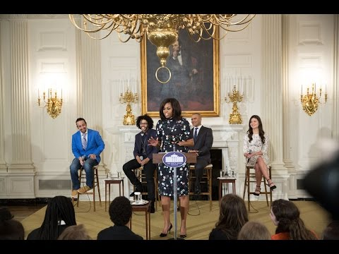 "Thumbnail: The First Lady Delivers Remarks at ""Hamilton at the White House"" Workshop"