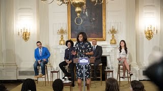 The First Lady Delivers Remarks at