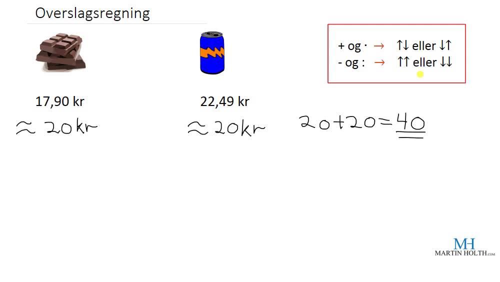 Matematikk 1P - Overslagsregning