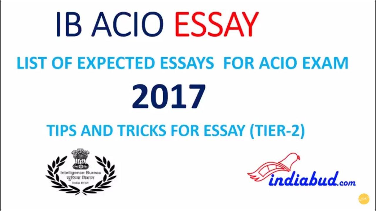 ib acio expected essay topics