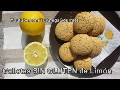 Cómo hacer galletas SIN GLUTEN de limón. Receta SIN LÁCTEOS