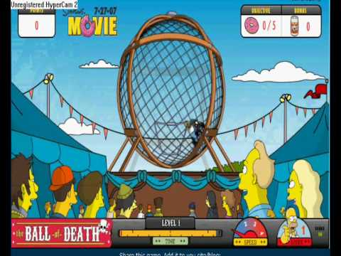 The Simpsons Movie Ball Of Death Game Youtube