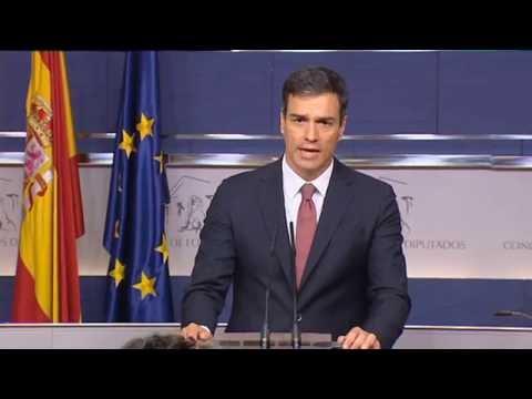 Pedro Sánchez reafirma el voto contrario a la investidura del PP