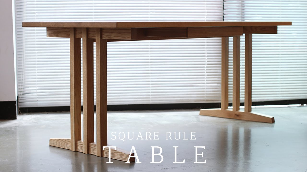 SQUARERULE FURNITURE - Making a WhiteOak Table with Drawer