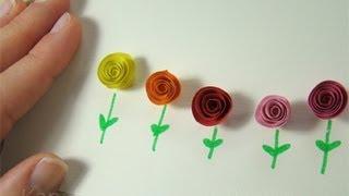 Basteln mit Papier: Geschenk basteln, z.B. für beste Freundin / Freund -  DIY Geschenkideen - Blumen